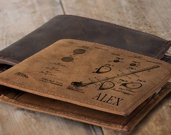 Men golf gift for dad gift golf personalized leather wallet mens wallet for golfer gifts husband gift golf gifts for men gifts golf decor