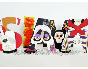 Coco Inspired Letter Set,Coco Party,Coco Movie,Coco Party Decor,Coco Letters, Day of the Dead