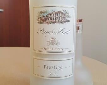 Puech Haut Prestige Rose - Wine Bottle Candle