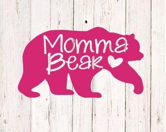 Mama Bear Decal, Yeti Cup Decal, Mama Bear Car Decal, Gifts for Mom, Rambler Decal, Mama Bear Vinyl Decal Sticker