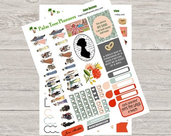 Jane Austen Planner Stickers for Erin Condren Vertical Planner