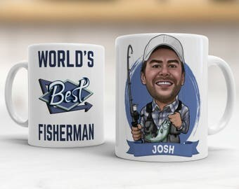 Personalized Gifts For Fishing, Fishing Gift Ideas, Fisherman Gift, Fishing Mug Funny, Fishing Gift for Men, Retirement Fishing Gift