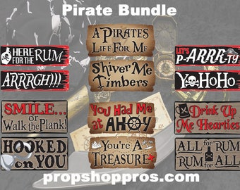 BEST SELLER Pirate Signs | Photo Booth Props | Prop Signs