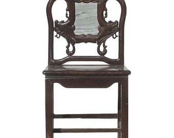 Sales Chinese Antique Chao Zhao Ming Style Rosewood Chair With Dream Stone Inlay wk2658E