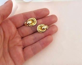 Clip on Earrings - Gold Earrings - Earrings - Vintage Earrings - Vintage - Earrings for Women - Clip Earrings - 1980s - 80s - Eighties Style