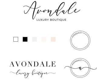 Logo Beauty Logo Branding Kit - Premade Logo Design - Logo Calligraphy Font - Fashion Logo - Photography Logo - Beauty Logo