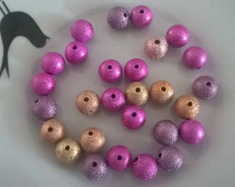 Set of 30 granitees and sparkly STARDUST beads