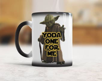 Funny Mug Yoda one for me Funny Coffee Cup, Gift idea for Best Boyfriend, Valentines Day Gift for Him, Anniversary gift for man, heat change