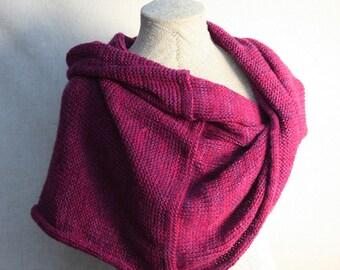 Magenta christmas gift / Bridesmaid shawl / Mohair shoulder warmer / Knit oversized scarf / Nursing shawl - Fuchsia