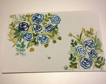 Floral post cards