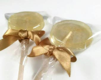 15 Gold Favour Lollipops, Gold Glitter, Gold Wedding Favours, Birthday Favours, Elegant Favours, Golden Anniversary Gift, Party Favours, uk
