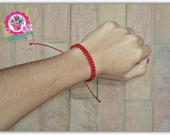 Bracelet wire red, Bracelet Red thread, couples, protetion, good luck, Unisex, network