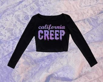 Women's - T Shirt - Tank Top - Crop Top - California Creep - Cute - Spooky - Pastel - Beach Goth