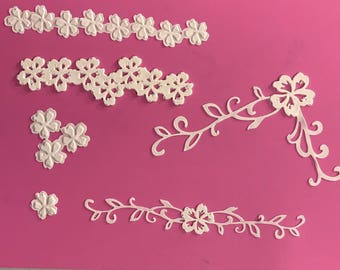 35x lace appique, Edible Lace, Sugar lace,  Cake Lace   (FREE SHIPPING)