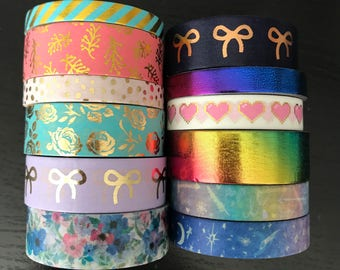 """24"""" SAMPLES of Simply Gilded foil washi tape (M97)"""