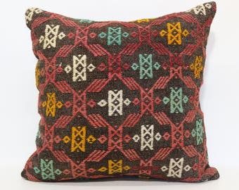 Large Size Cushion Cover High Quality Vintage Turkish Embroidered Kilim Pillow Cover Floor Pillow Decorative Kilim Pillow SP6060-1155