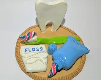 Custom Business Card Holder for Dentist office (Polymer Clay)