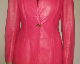 escada margaretha ley pink leather jacket