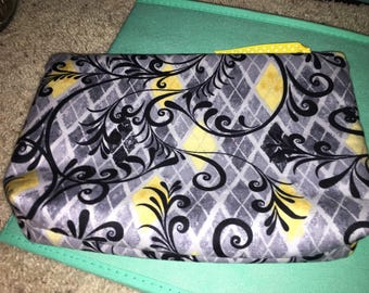Yellow and gray pouch