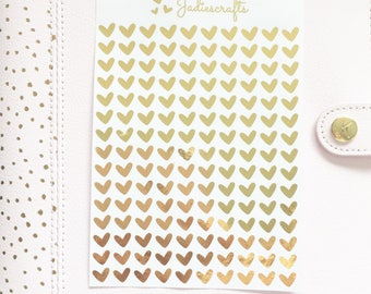 Foil Small Love Heart Stickers   Planner Stickers