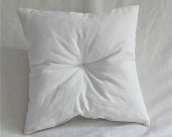 """Cushion futon French antique linen french white collection """"CAP FERRET"""" by House aunt Cath"""