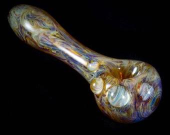Psychedelic Hand Blown Borosilicate Glass Tobacco Pipe in Purple Haze
