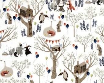 Woodland Friends Flannel Cotton & Minky Throw Blanket
