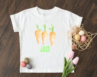 Personalized Boys Easter Shirt - Boys Carrot Shirt - Baby Boys -  Easter Shirt - Toddler Boys- Carrot Shirt -Boys Easter Shirt