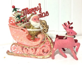 Art Assemblage made from Vintage Christmas Items