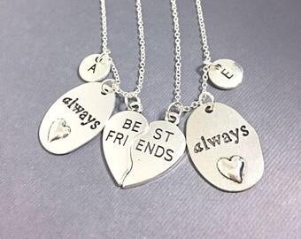 Always Jewelry,Set of 2  silver,Always Best Friends, necklace Jewelry,Best Friends always harry potter,always pendant,friendship jewelry,BFF