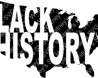 Black History Map SVG DXF Cutting File