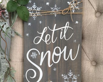 Winter Rustic Wooden Sign