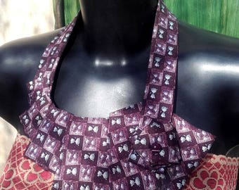 Jazzy purple cat tie necklace