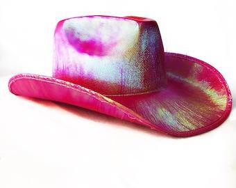 Red Metallic Cowboy Hat