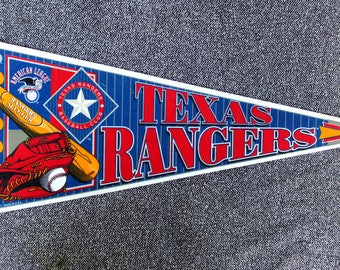Texas Rangers Vintage Pennant- 90s Banner