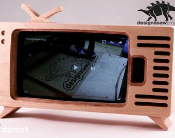 Retro TV Phone Stand