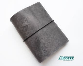 A5 travelers notebook Grey -midori - fauxdori