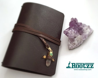A6 Traveler's notebook with a gemstone closure