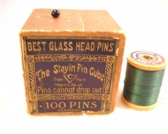 Vintage Glass pin Storage Box