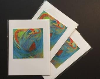 "Bird Spirit (5"" x 7"" greeting card)"