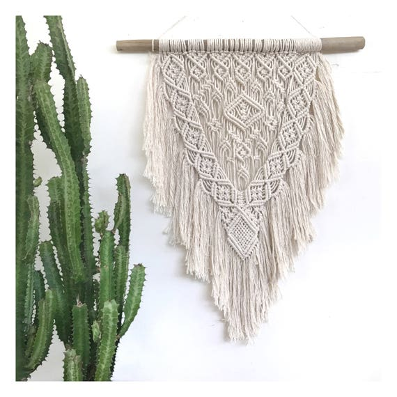"Macrame Wall Hanging ""Night Bloom"""