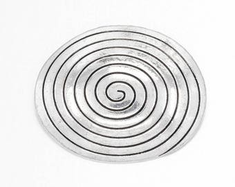 large pendant spiral metal 39 x 47 x 12 mm, hole: 4 mm