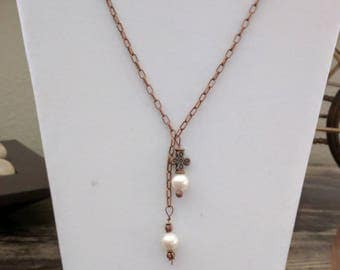 Copper and Pearl Necklace