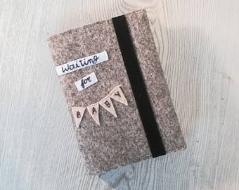 LE CARE- Pregnancy Diary - Pregnancy Notebook - Felt Cover - Pregnancy Journal - 9 Months - Pregnant - waiting baby - belly - having a baby