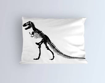 Dinosaur Pillow Case Cover - Dino Bedding- T-Rex Dorm Decor-Toddler pillow covers -Kid Teens or Adult - Funny pillowcase - Standard Size