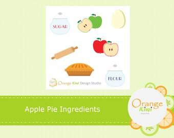 Apple Pie Ingredients, Baked Apple Pie, Baking Ingredients, Sample Sticker Set