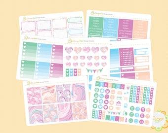 Marble Weekly Kit, Erin Condren Life Planner, Happy Planner