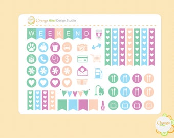 Marble Kit Sampler Set, Planner Stickers, Erin Condren Life Planner, Happy Planner, Filofax