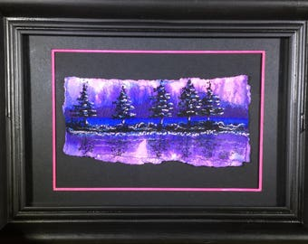 Landscape/Art On Paper/Sunrise Painting/Small Painting