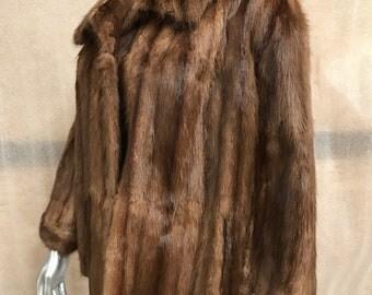 Tarbagan fur coat woman size medium .